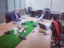 Dr. Muhammad Akram Shah NPM, EPI receiving briefings from partners 23/24.2.2021