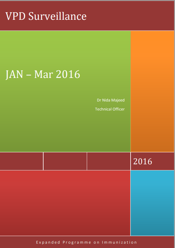 VPD Surveillance Report, January – March, 2016